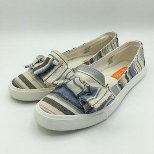 Rocket Dog Blue Clarita Slip On Bow Flat Shoes